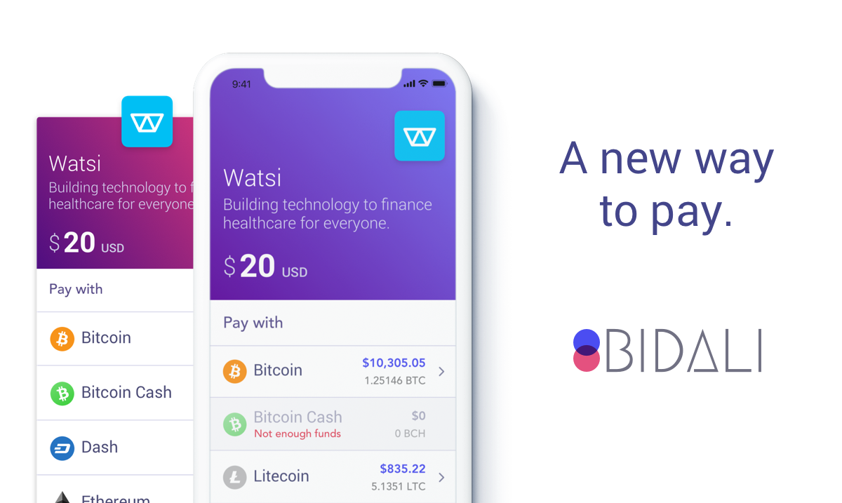 Bidali - a new way to pay
