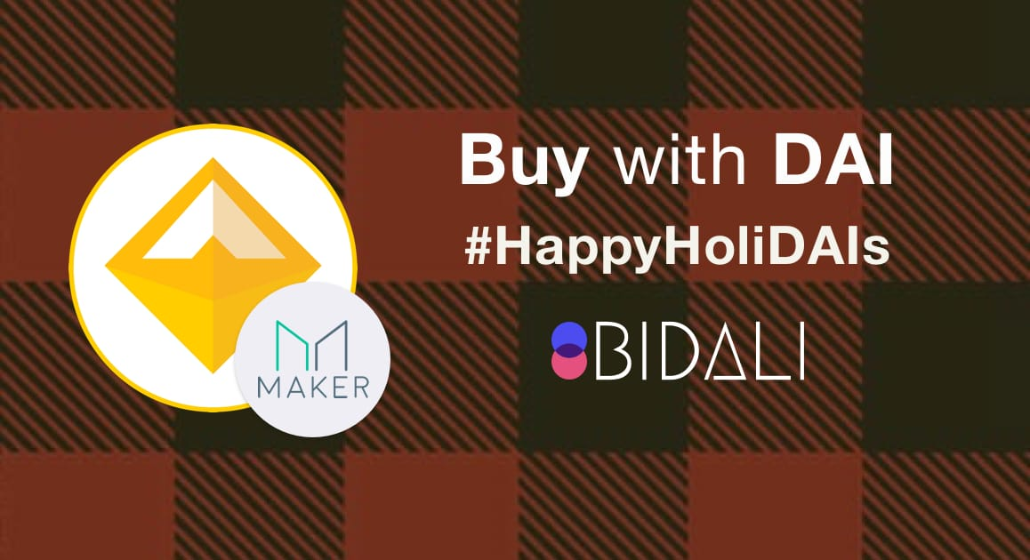 Bidali and Maker present buy with DAI