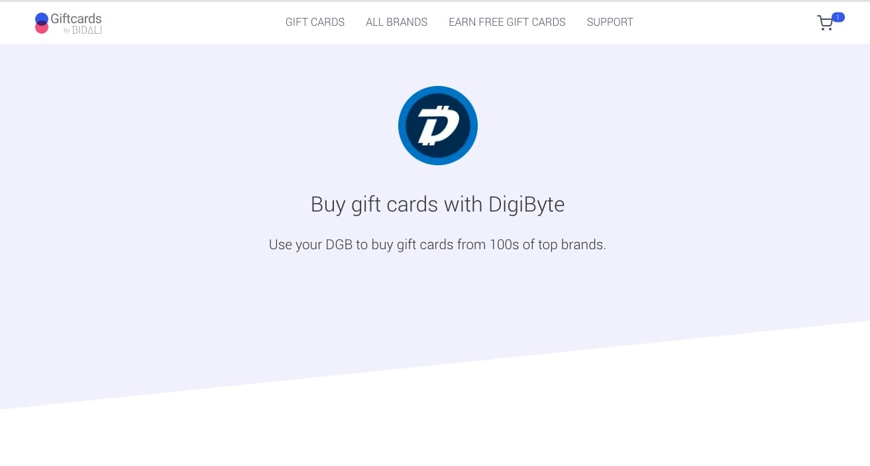 Bidali supports DigiByte
