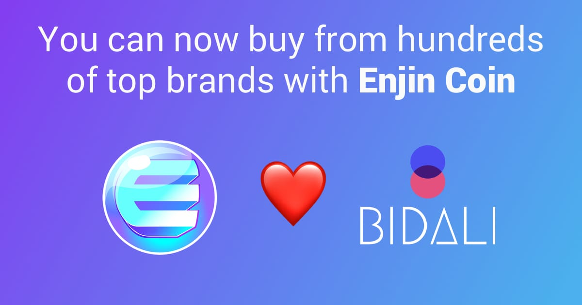 Bidali loves Enjin