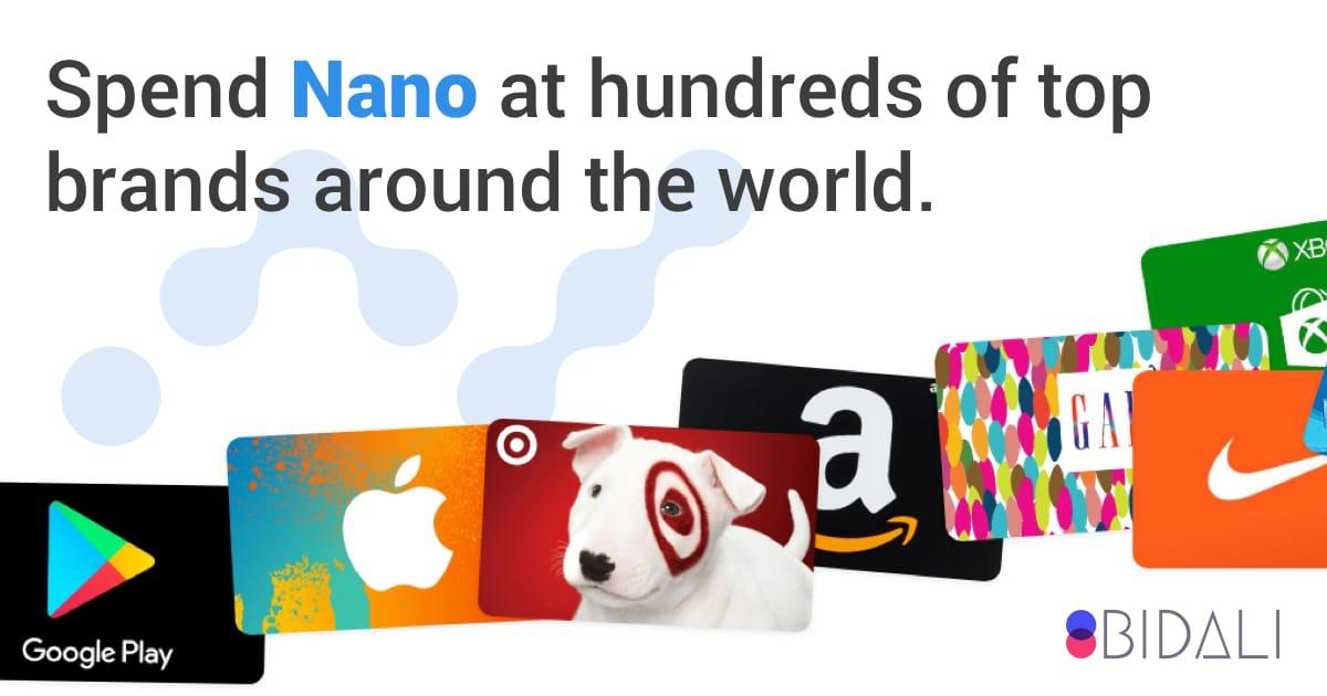 Bidali loves Nano