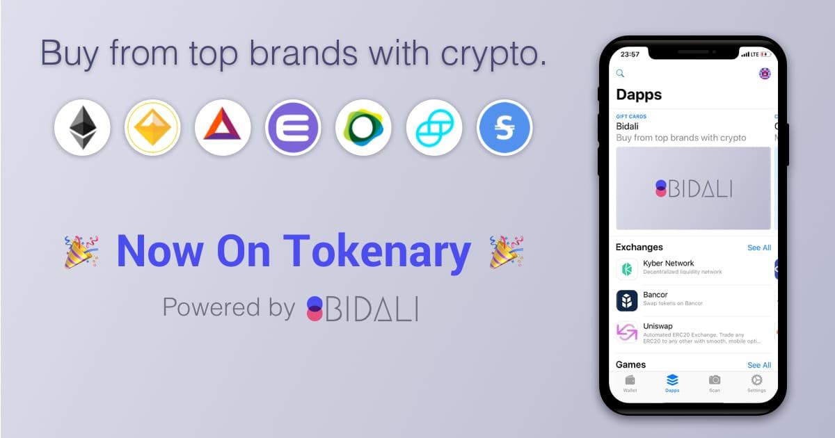 Bidali loves Tokenary