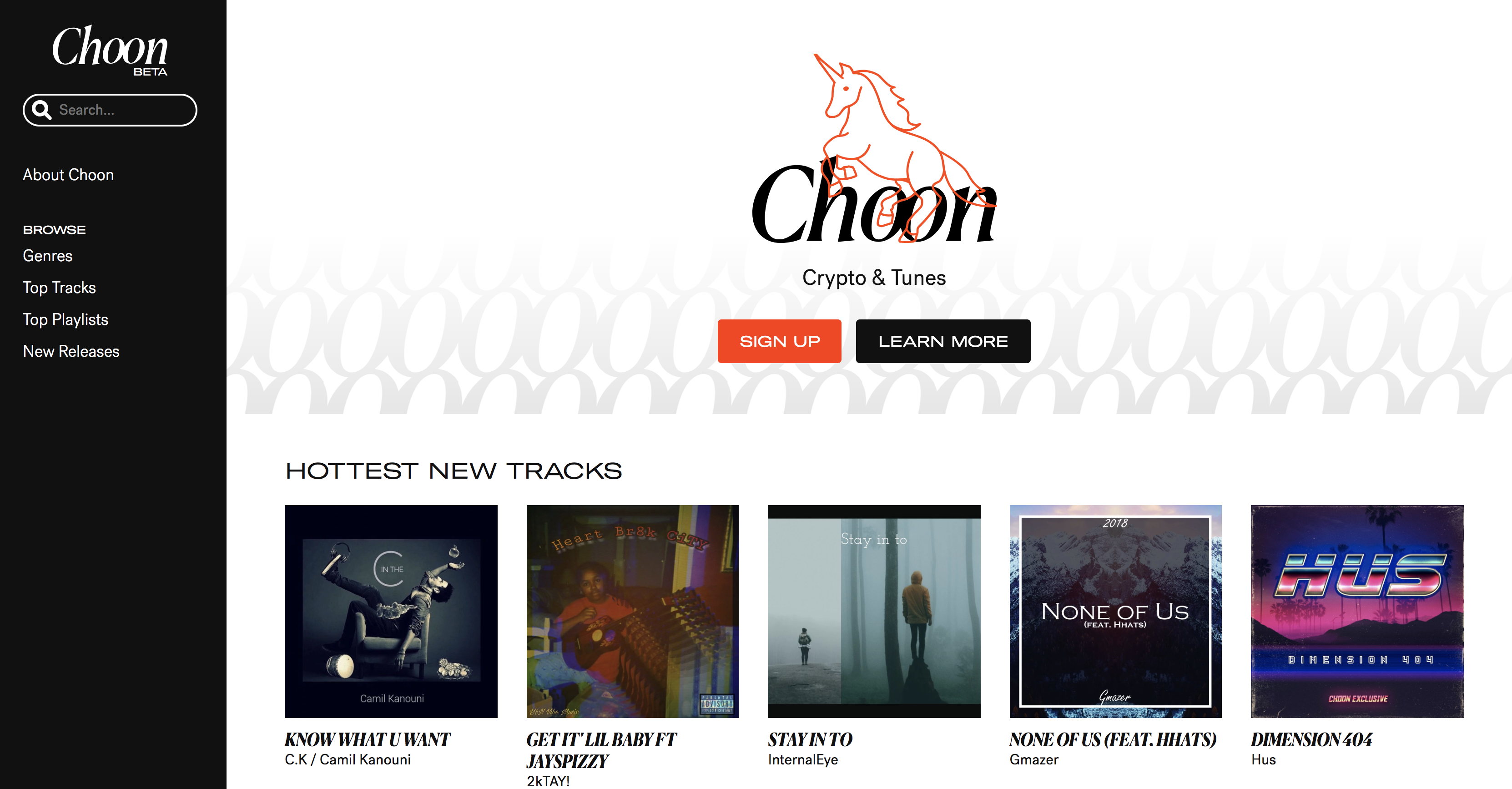 Choon music streaming service
